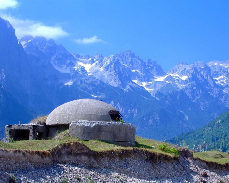Bunker in Albanian Alps.