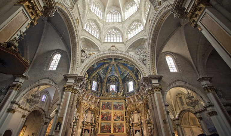 The stunning interior of the Cathedral of Valencia
