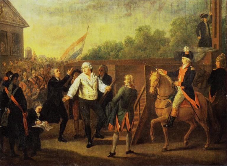 Charles Benazech – Louis XVI et l'abbé Edgeworth de Firmont au pied de l'échafaud, le 21 janvier 1793 (1793) │