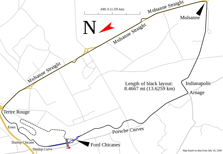 Circuit de la Sarthe track map │© Will Pittenger / WikiCommons