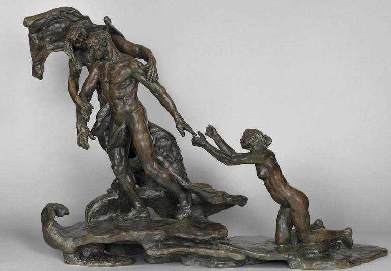 L'Âge mûr, 1890-1907 bronze by Camille Claudel