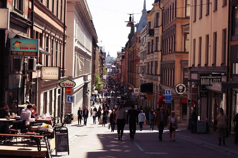 The endless blocks of Drottninggatan