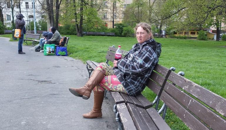 Homeless tour guide Helca