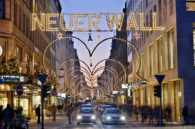 Christmas time at Neuer Wall in Hamburg, Germany