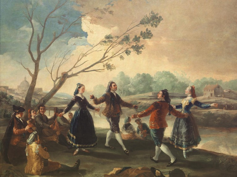 A painting by Francisco Goya featuring the Manzanares River