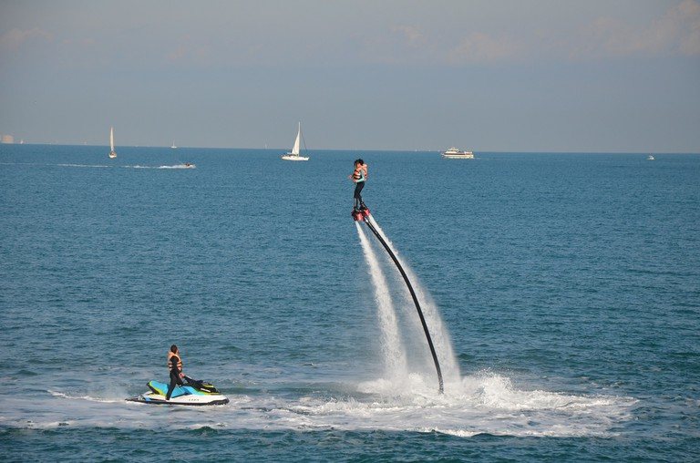 You can get to flyboarding with only a small amount of practice