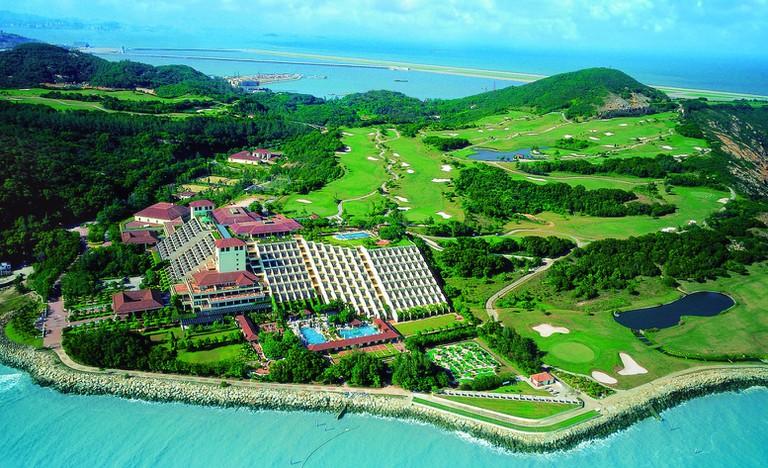 View overlooking an area of Macau's green belt, Coloane