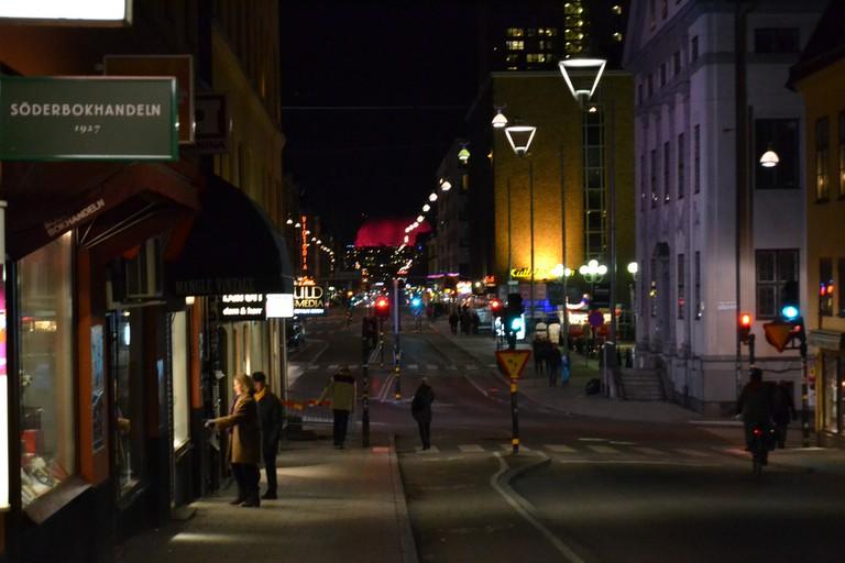 Götgatan slices through Södermalm