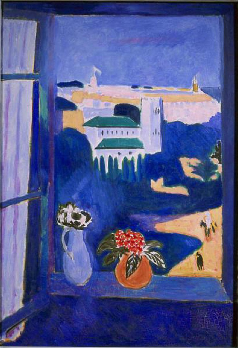 Henri Matisse, 1911-12, La Fenêtre à Tanger (Paysage vu d'une fenêtre Landscape viewed from a window, Tangiers), oil on canvas, 115 x 80 cm, Pushkin Museum | Creative Commons