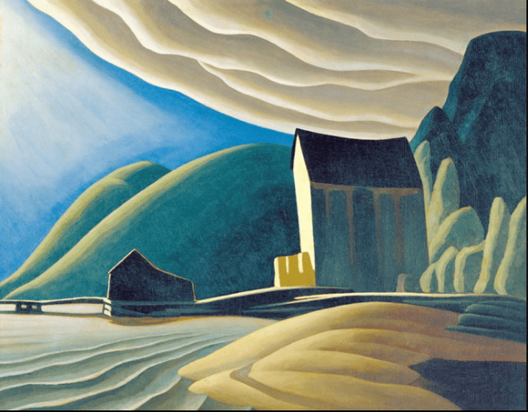 Ice House, Coldwell, Lake Superior (1923) Harris