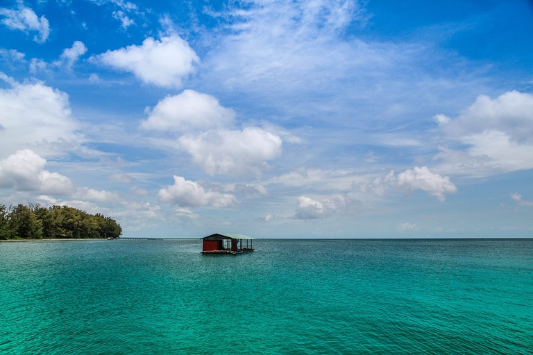 Floating house near Phu Quoc Island