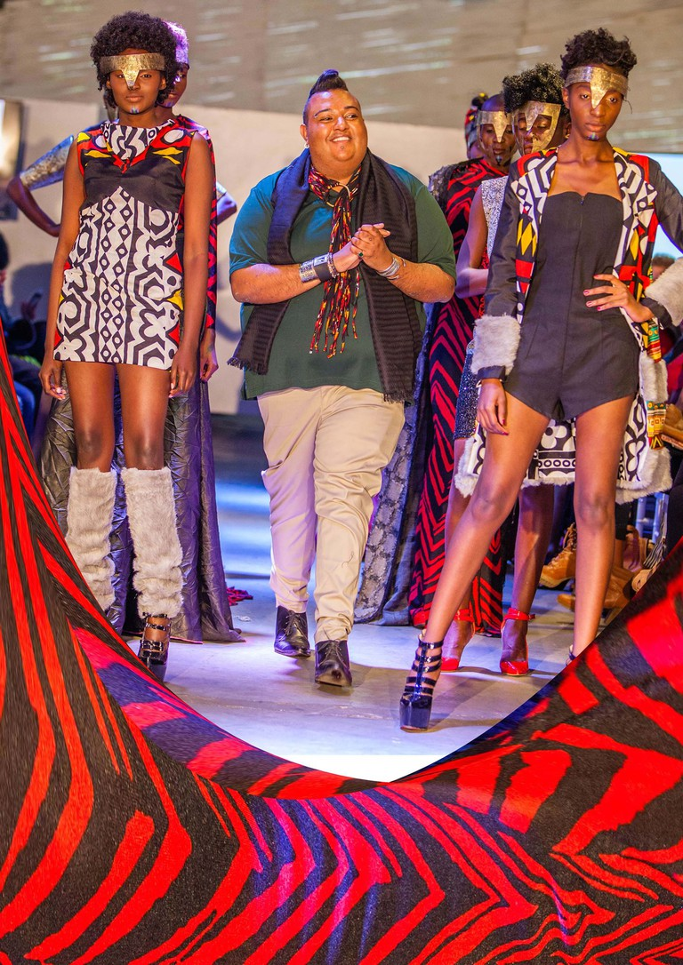 Jamil Walji of JW Couture on the runway during a show 2016