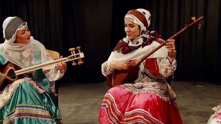 Kurdish women in traditional clothes