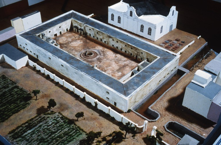 A model of the Slave Lodge at the end of the 18th century by Peter Laponder (1999)