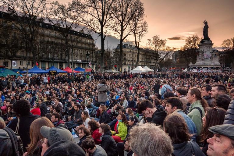 Nuit Debout, Place de la République │© Olivier Ortelpa / Flickr