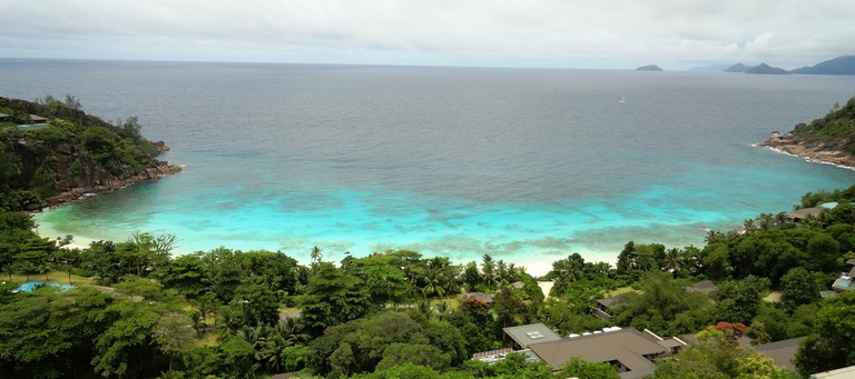 View of Petite Anse from the four seasons resort.