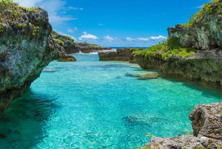 The Limu Pools, um local favorito para nadar e mergulhar em Niue