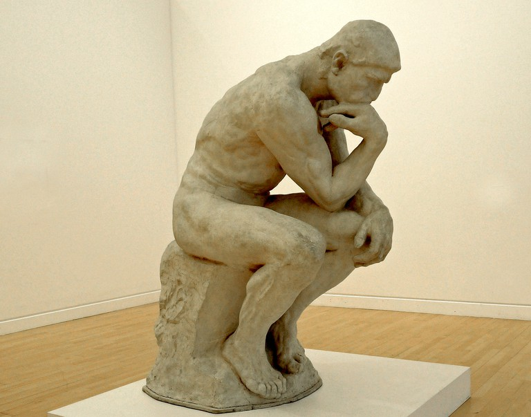 Plaster for The Thinker by Auguste Rodin