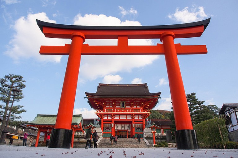 The Romon Gate at Fushimi Inari Taisha