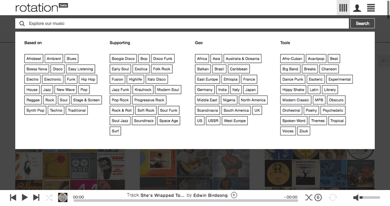 Rotation is the online equivalent of the local record store of yesteryear