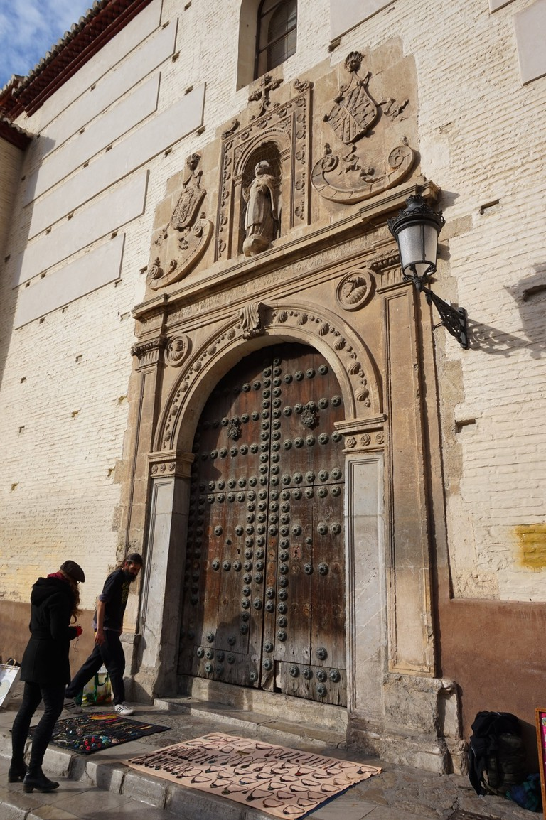 Beautiful entrance to a sixteenth-century church in central Granada