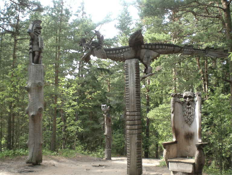 Dragon scuplture at the Hill of Witches