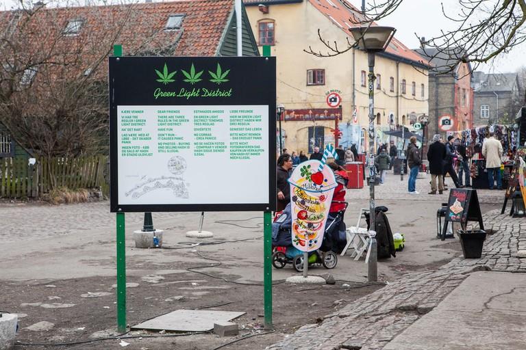 Freetown Christiania, a self-proclaimed autonomous neighbourhood in Copenhagen