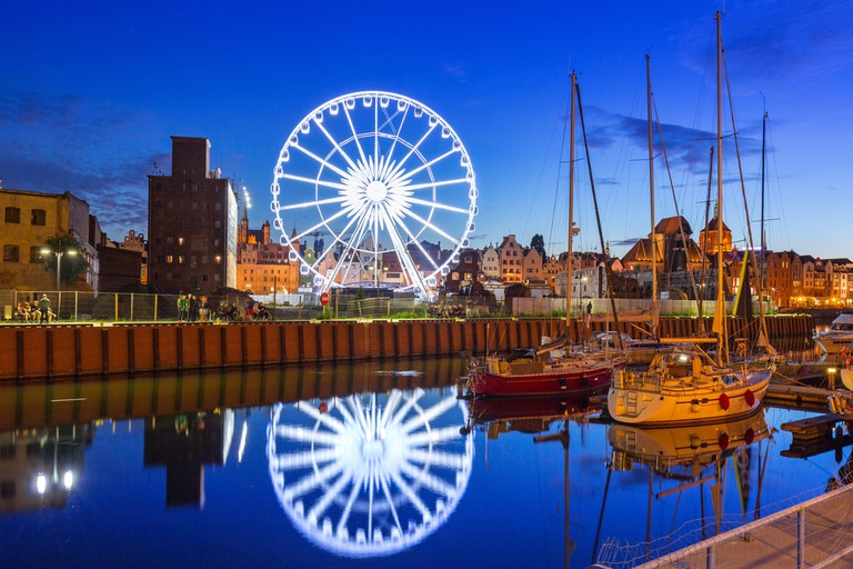 Ferris Wheel in Old Town Gdansk