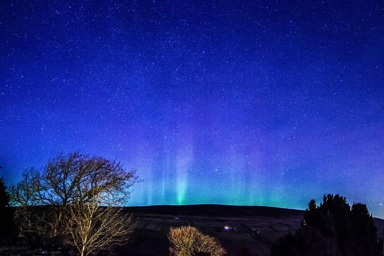 Northern lights over the Yorkshire Dale, UK – 27 Jan 2017