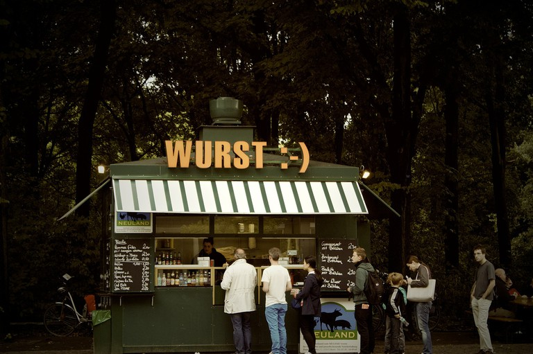 A typical wurst stall in Berlin