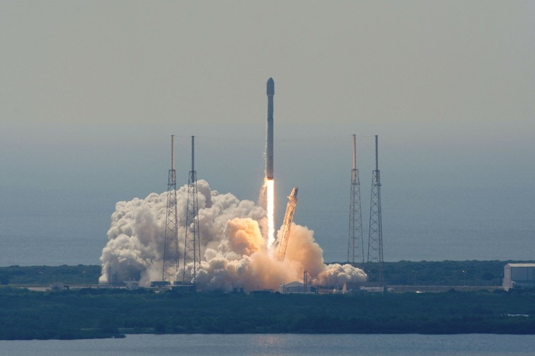 Liftoff from a distance.