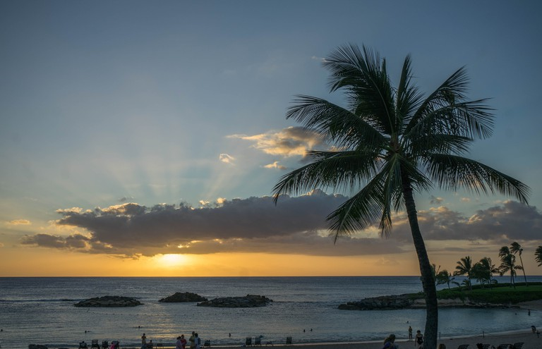 Hawaii snagged the top spot on the list of happiest states.