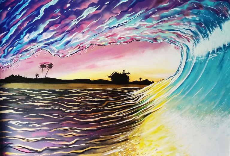 A Durban shoreline sunset