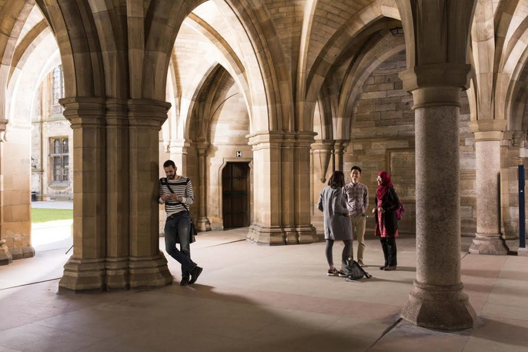 Students Socialise In The Cloisters At The University | Courtesy Of The University Of Glasgow
