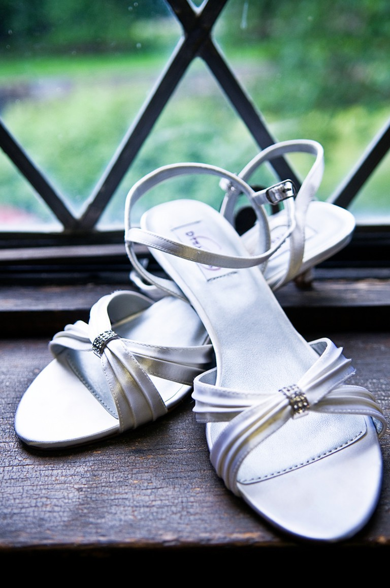 Choose wedding shoes that are practical for your chosen location