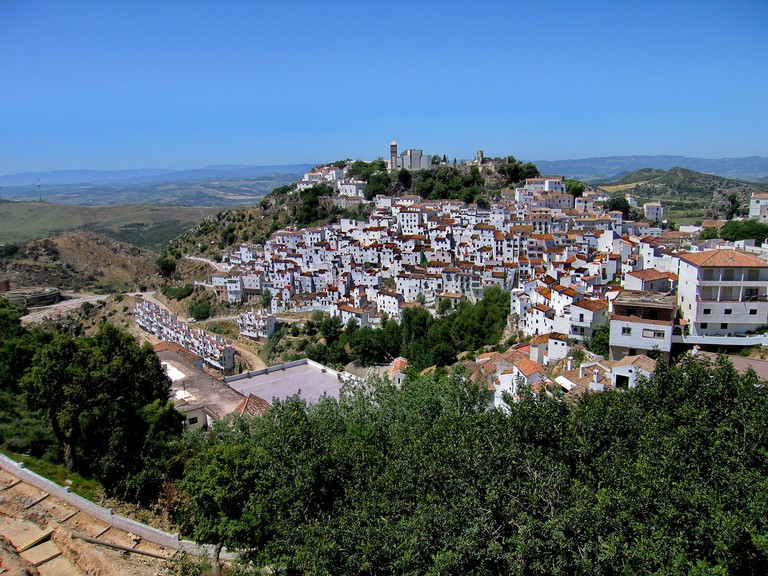 The beautiful village of Casares sits on the top of a tcliff; pixabay