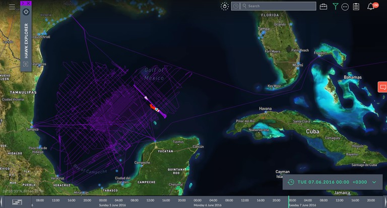 Windward allows users to track any ship, anywhere in the world, at any time