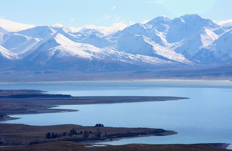 Lake Tekapo and Mountains