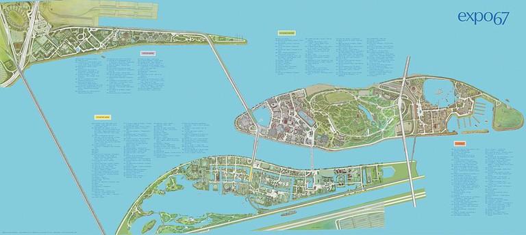 Kramer's Expo '67 map design | © Wikimedia Commons