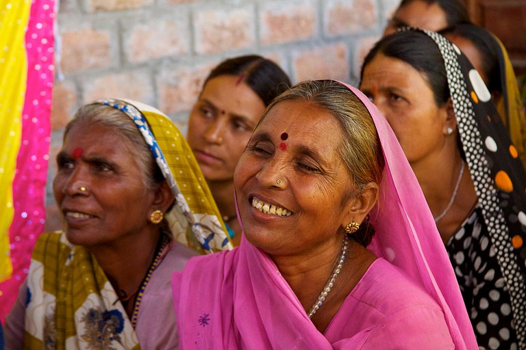 Smiles and determination of rural indian women