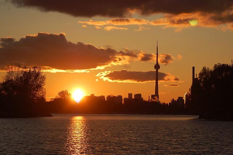 The CN Tower shot from Ashbridge's Bay, Toronto