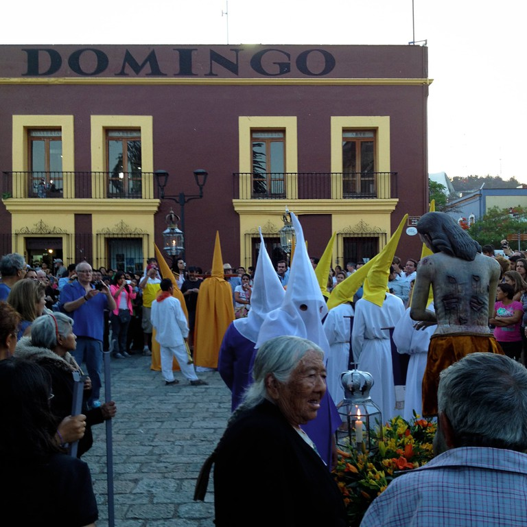 Traditional Easter parades in Oaxaca State