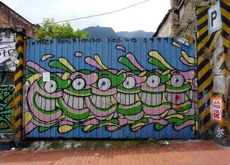 Street Art in Bogota, by An Artist Named Pez