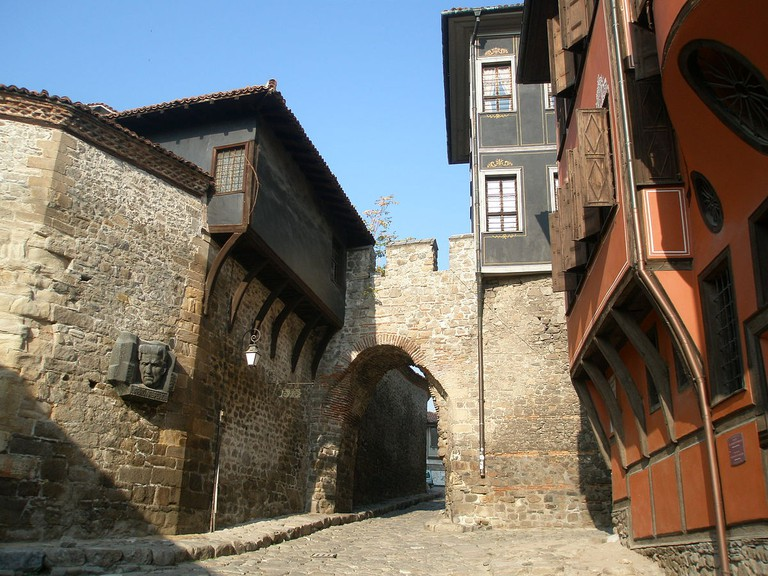 Hisar Kapiya, one of the gates of the medieval fortress in Plovdiv