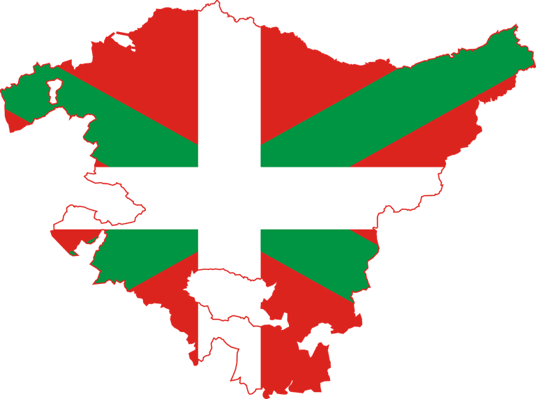 Basque map flag