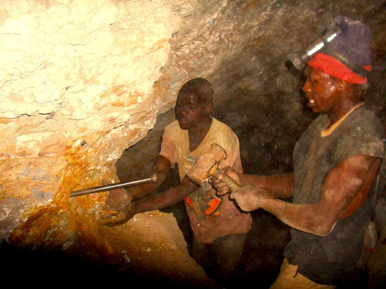 Inside a Tanzanite mine
