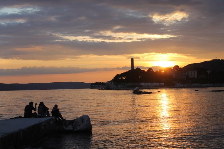 Sunset at Bacvice Beach, Split