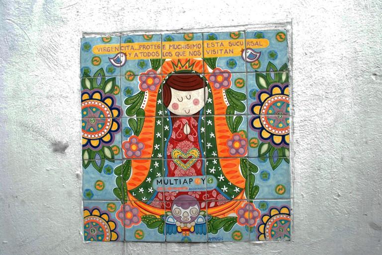 The ever-present Virgen de Guadalupe