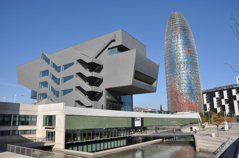 The Barcelona Design Museum next to the iconic Torre Agbar © Josep Bracons
