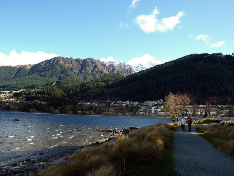 A Walking Track Next To Lake Wakatipu